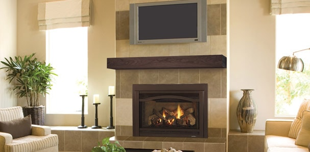 Many Homeowners Today Are Mounting Lcd And Plasma Televisions Above Their Fireplaces But Is That Smart Really With All The Heat A Fireplace Generates