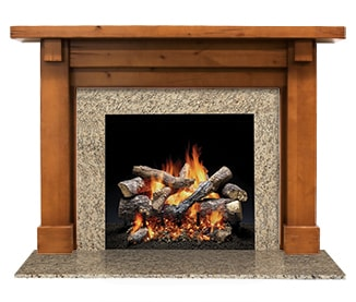 Battlefield Flush Wood Mantel