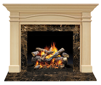 Portico Flush Wood Mantel