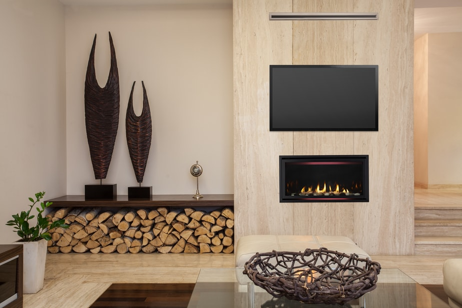 Mount Your Tv Above The Rave Modern Gas Fireplace Heatilator