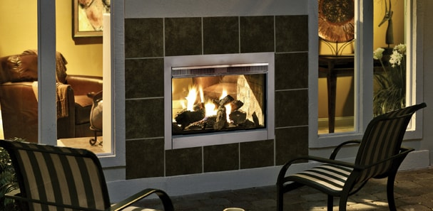 Indoor Outdoor Fireplaces Offer The