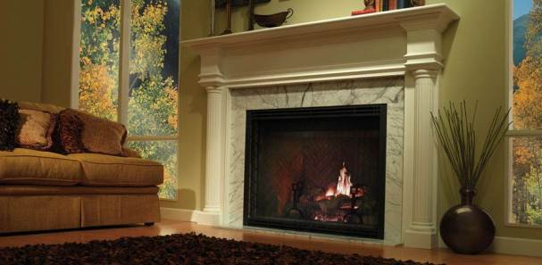 Look To Gas Fireplaces For Home Heating, Energy Efficient Gas Fireplace Insert
