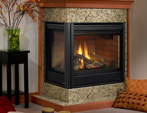 no room for a bulky hearth no problem the heatilator novus evolution gas fireplace can be installed flush with the wall and raised off the floor like the
