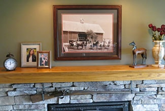 its all in a word the mantel is the perfect perch to display prominent word art that expresses things important to you