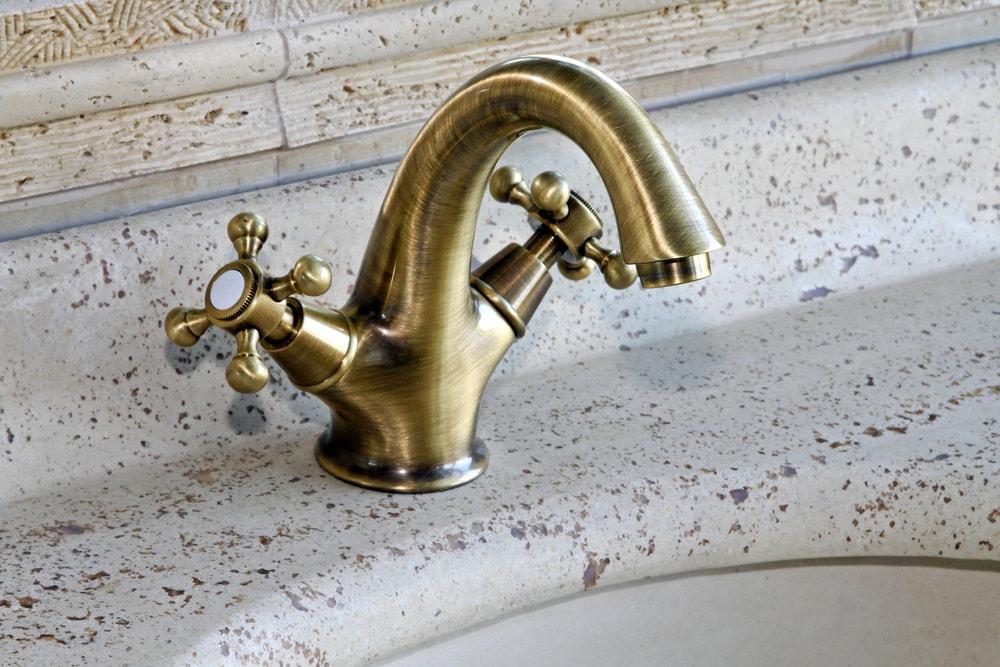 Antique brass faucet.