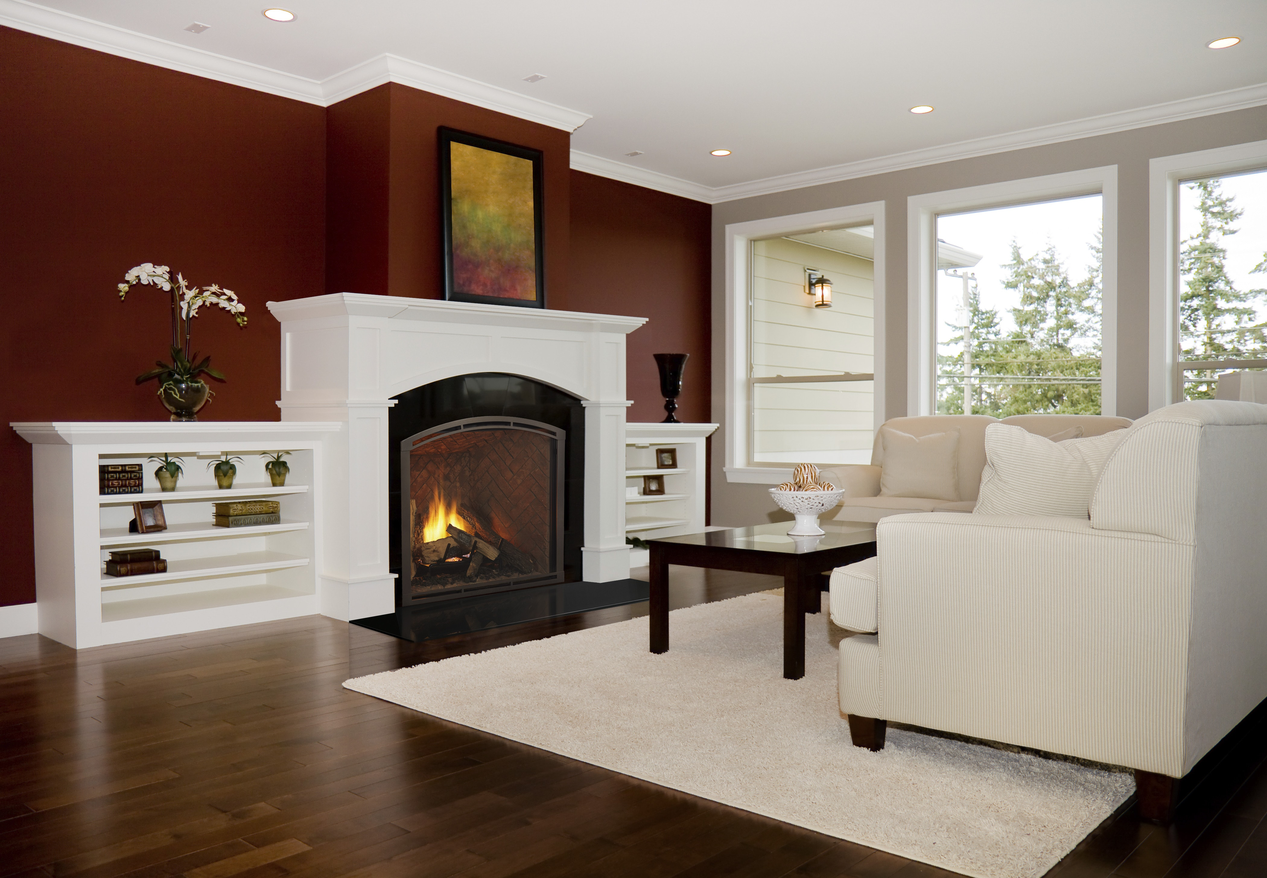 Heirloom gas fireplace