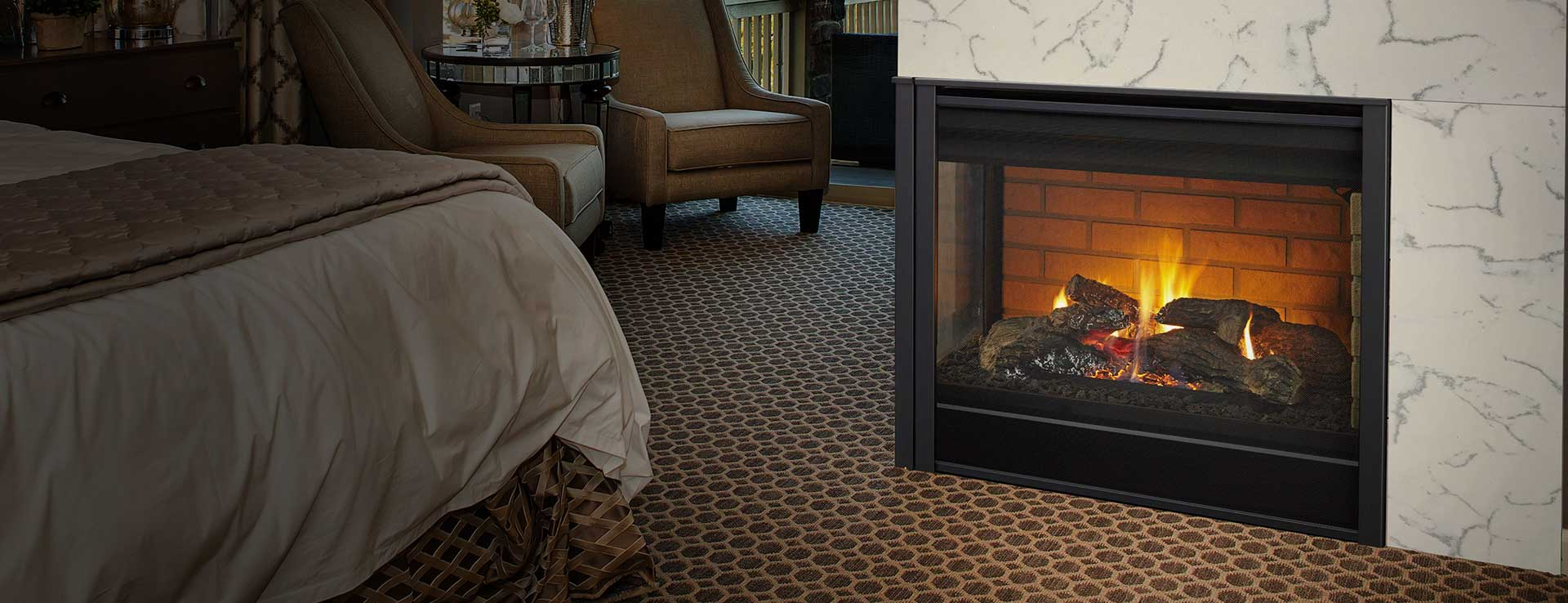 corner gas fireplaces heatilator
