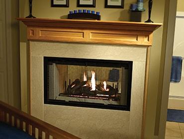 Multi-sided Wood Fireplace