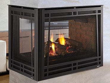 Peninsula Three Sided Gas Fireplace Heatilator