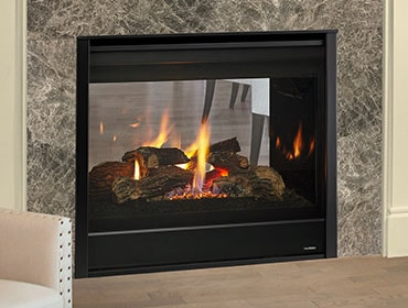 natural gas fireplace double sided seethrough gas fireplace fireplaces heatilator
