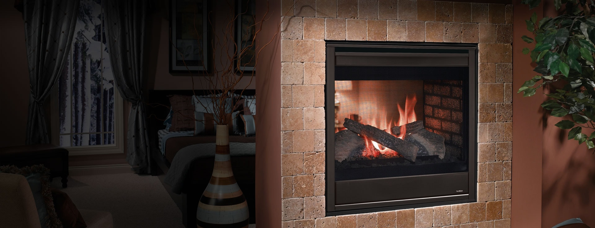 See Through Gas Fireplace Small Gas Fireplaces Heatilator