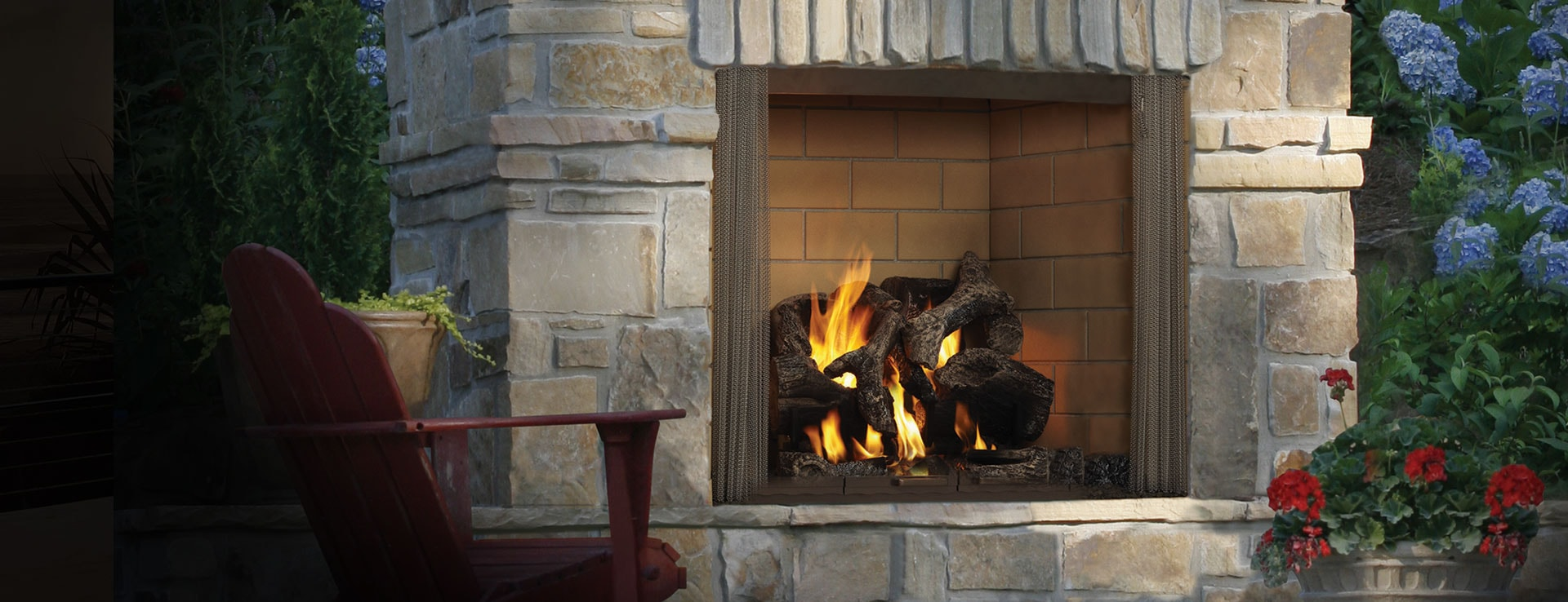 castlewood large outdoor wood fireplace heatilator