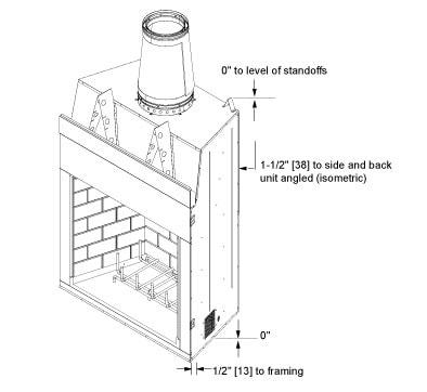 Castlewood Large Outdoor Wood Fireplace   Heatilator