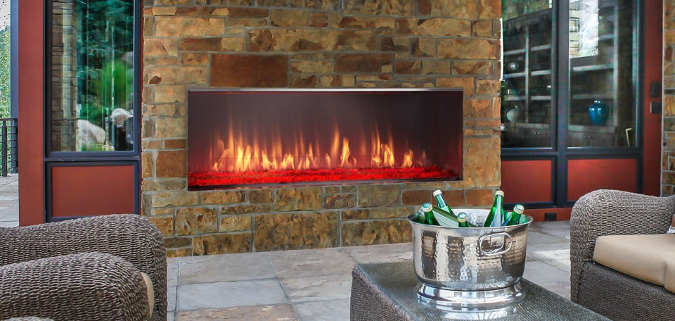 Lanai Gas Fireplace Heatilator