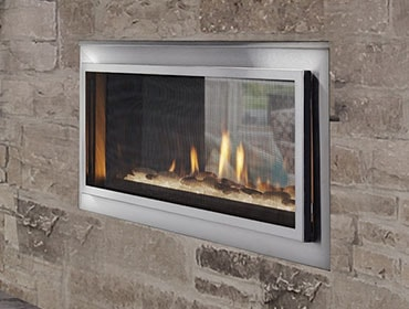 Mezzanine See Through Gas Fireplace