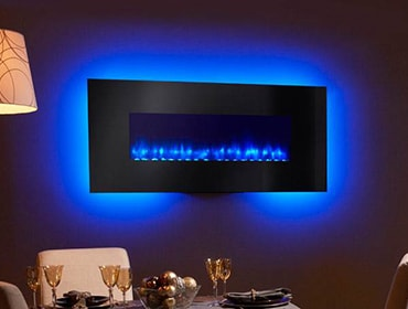 Simplifire Wall Mount Electric Fireplace Series Heatilator