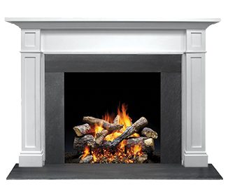 Novus Gas Fireplace With Glowing Embers Heatilator