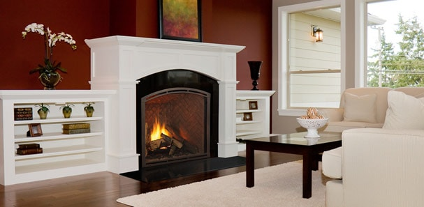 can i install a gas fireplace on an interior wall