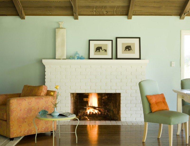 Give Your Fireplace a Colorful Makeover