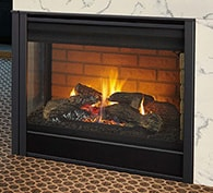 Peninsula Three-Sided Gas Fireplace | Heatilator