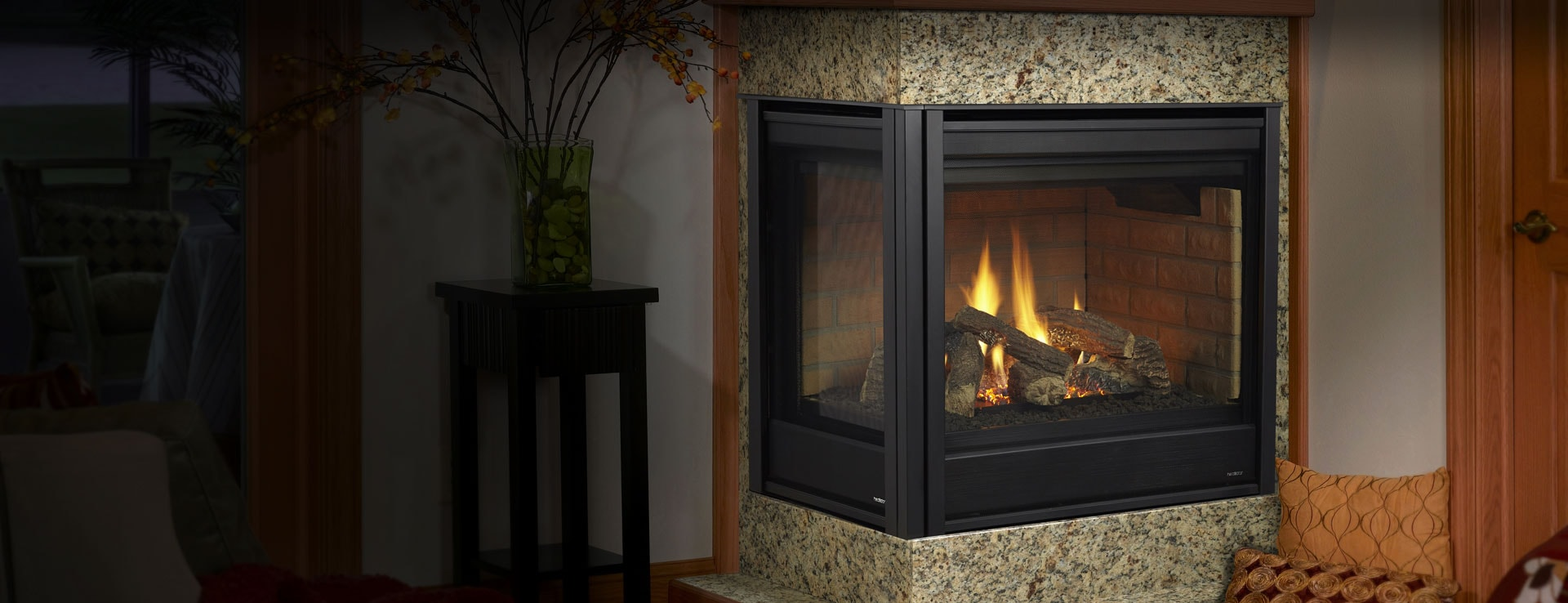 gas fireplaces corner units corner gas fireplaces heatilator