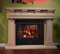 See-Through Gas Fireplace