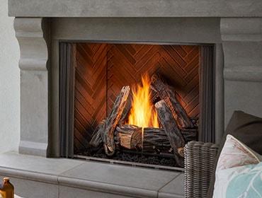 Courtyard Gas Fireplace