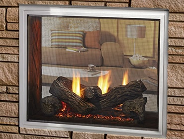 Fortress See-Through Gas Fireplace